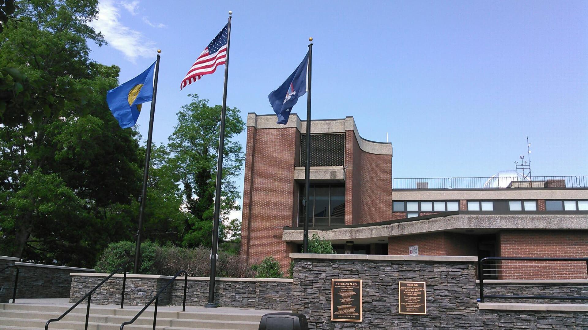 Veteran's building in Islip Arts.
