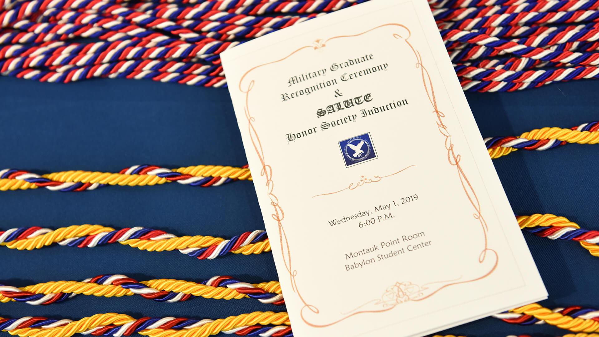 Military Graduate Ceremony Pamphlet