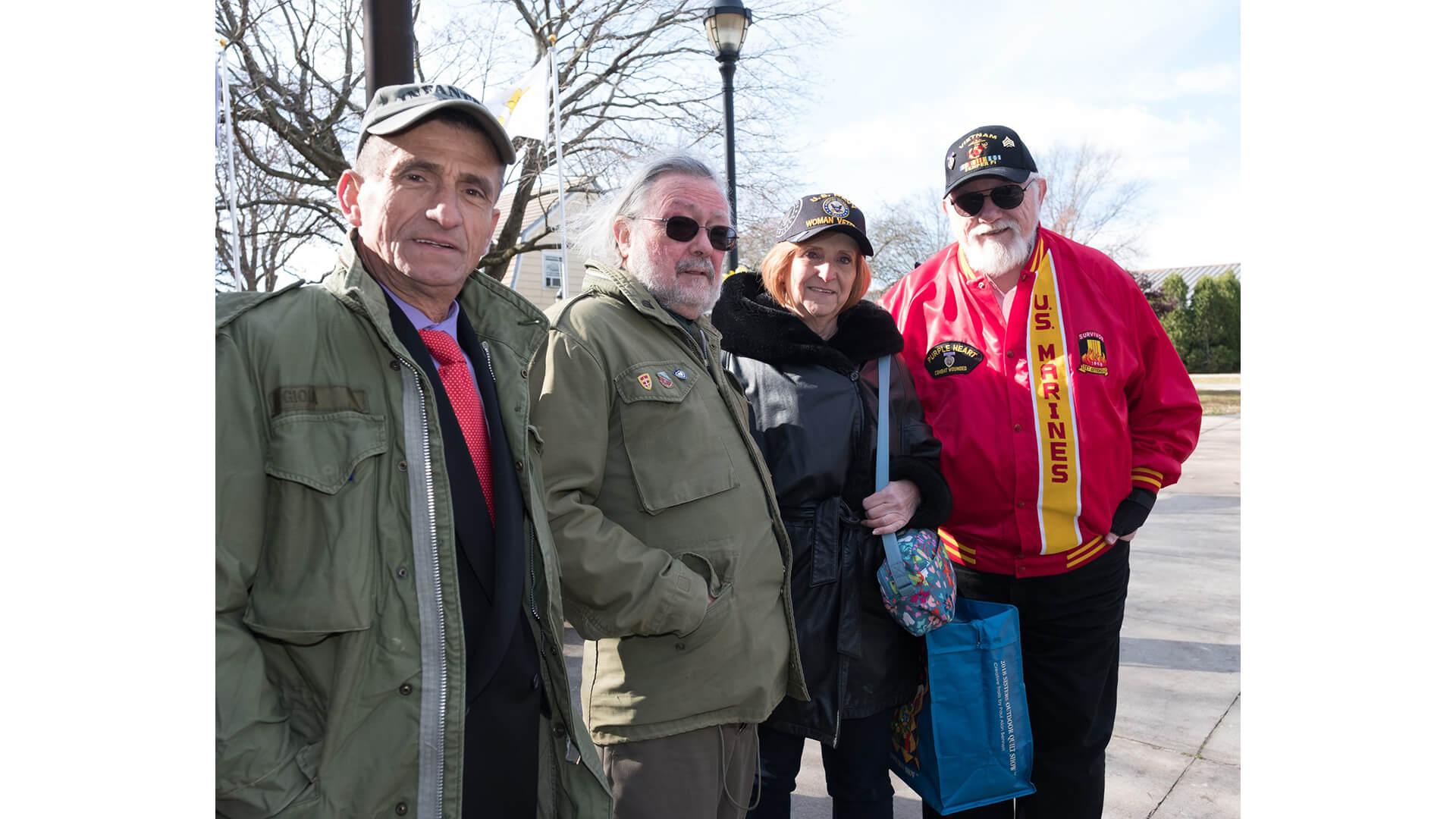 Photo of four veterans
