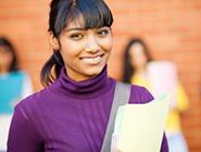 Student in a purple turtleneck.