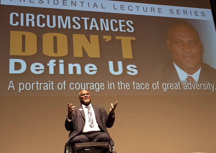 Presidential Lecture Series: Col. Gadson Inspires Suffolk