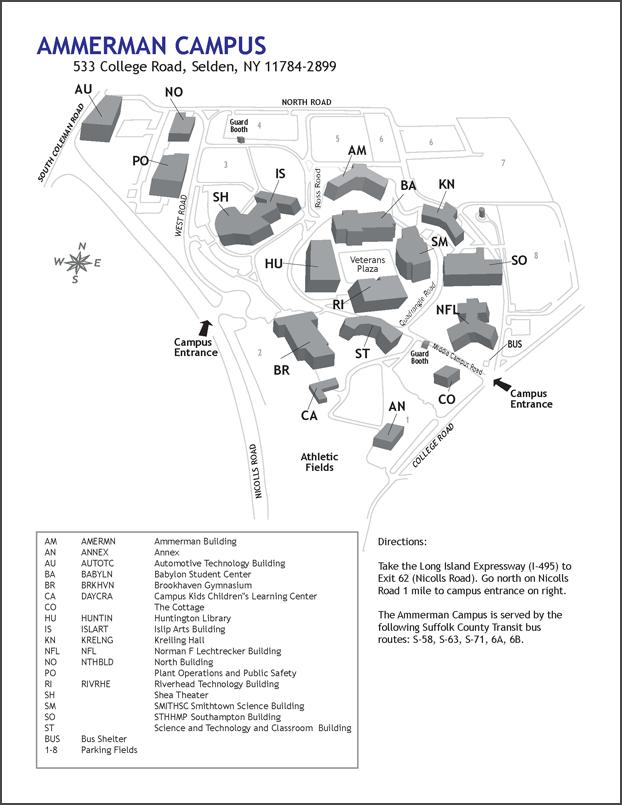 Ammerman Campus Map | compressportnederland