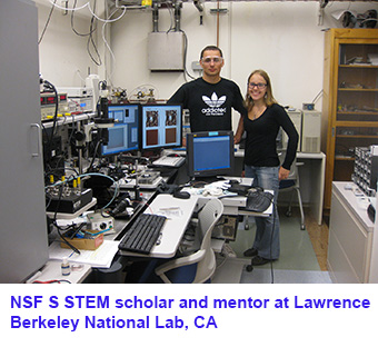 NSF STEM scholar and mentor at Lawrence Berkeley National Lab, CA