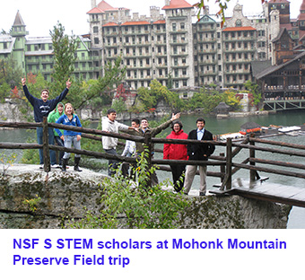 NSF STEM scholars at Mohonk Mountain Preserve Field trip