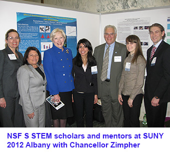 NSF STEM scholars and mentors at SUNY 2012 Albany with Chancellor Zimpher