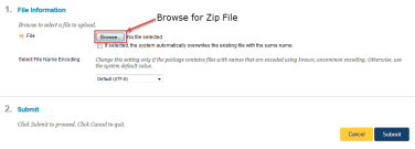 CC-Zip File Upload