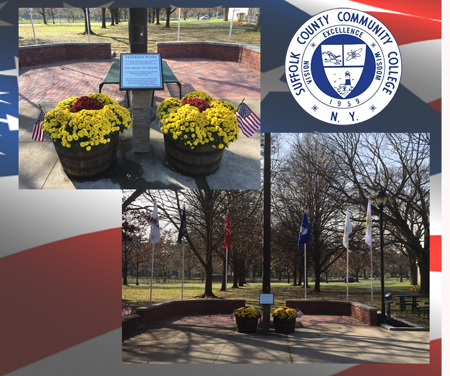 Veterans Plaza at the Michael J Grant Campus in Brentwood.